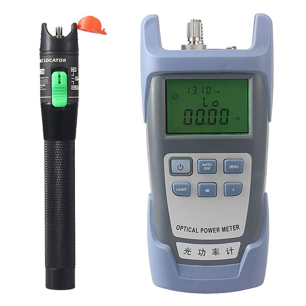 Prettyia Portable AUA-9 Optical Fiber Power Meter Tester Measure -70dBm~+10dBm + 30mW 20KM Visual Fault Locator Fiber Tester Detector Meter Pen