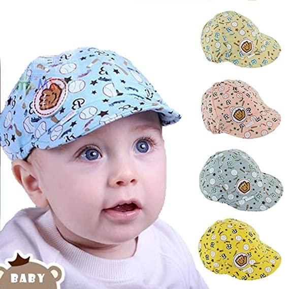 BIYUT 3-24 Months Baby Boy Girl Autumn Hats Children Baseball Caps Kids Peaked Beige at Amazon Womens Clothing store: