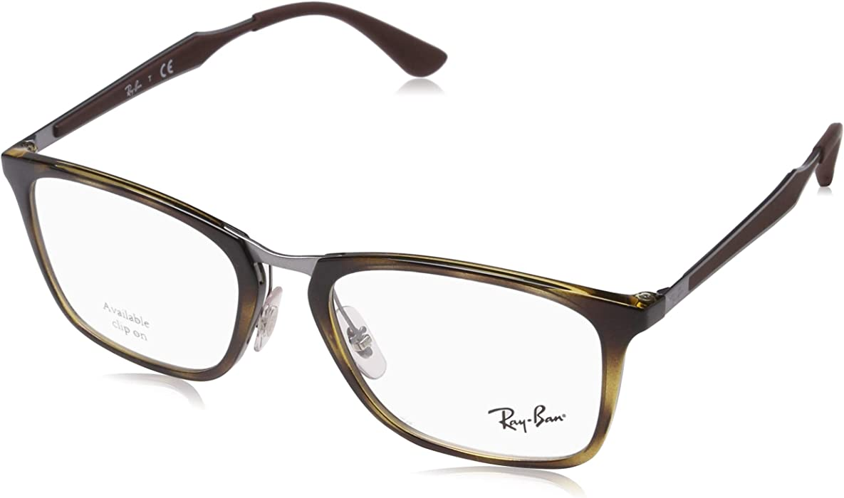0701b7dedda Amazon.com  Ray-Ban Men s RX7131 Eyeglasses Havana 53mm  Clothing
