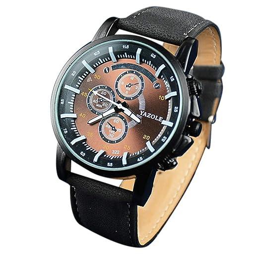 Dylung Reloj para Hombre de Negocio Reloj de Pulsera de ...