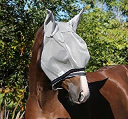 Horseware Amigo Fly Mask with Ears Cob Silver/Navy