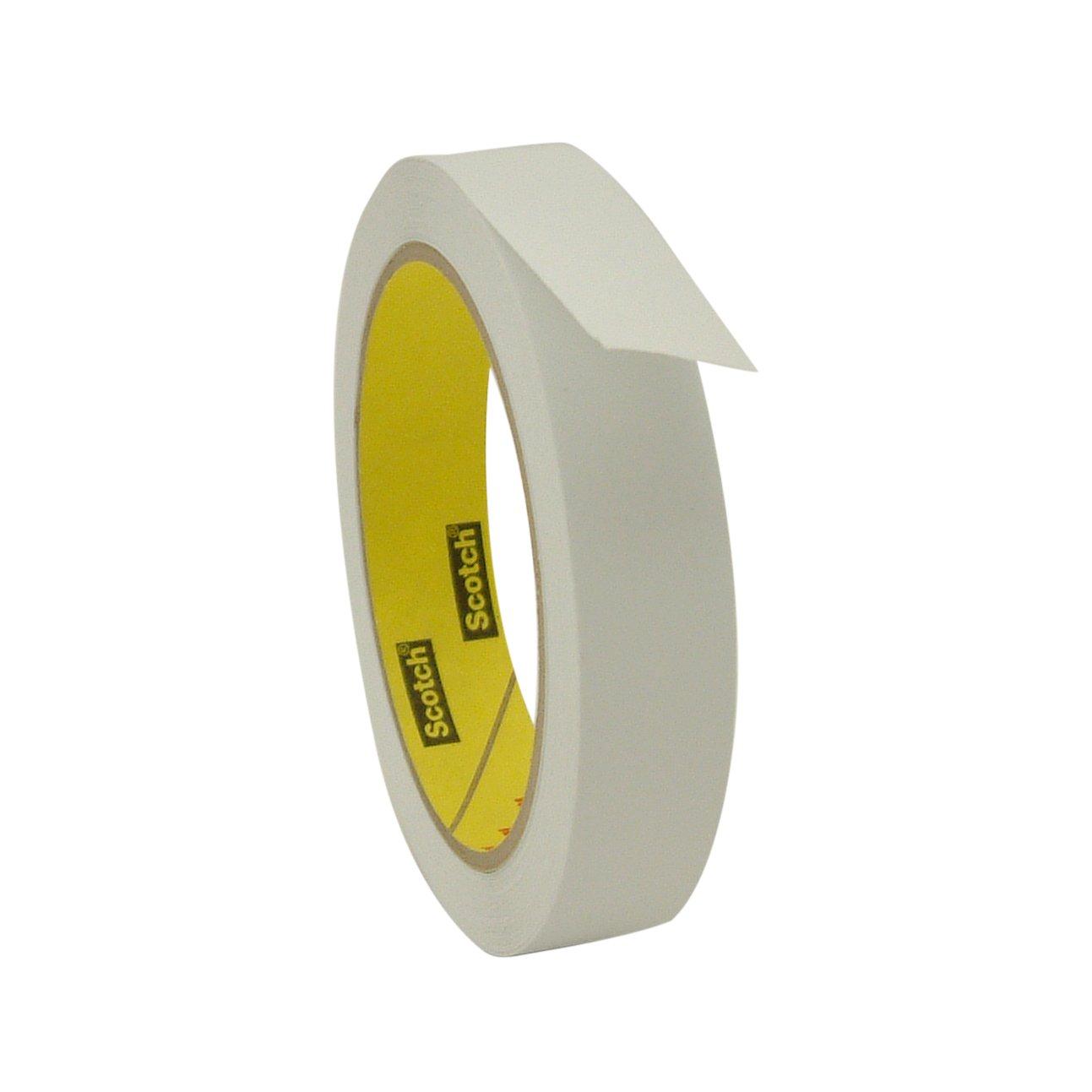 3M 3051/WI07536 Scotch 3051 Low Tack Paper Tape: 3/4'' x 36 yd, White