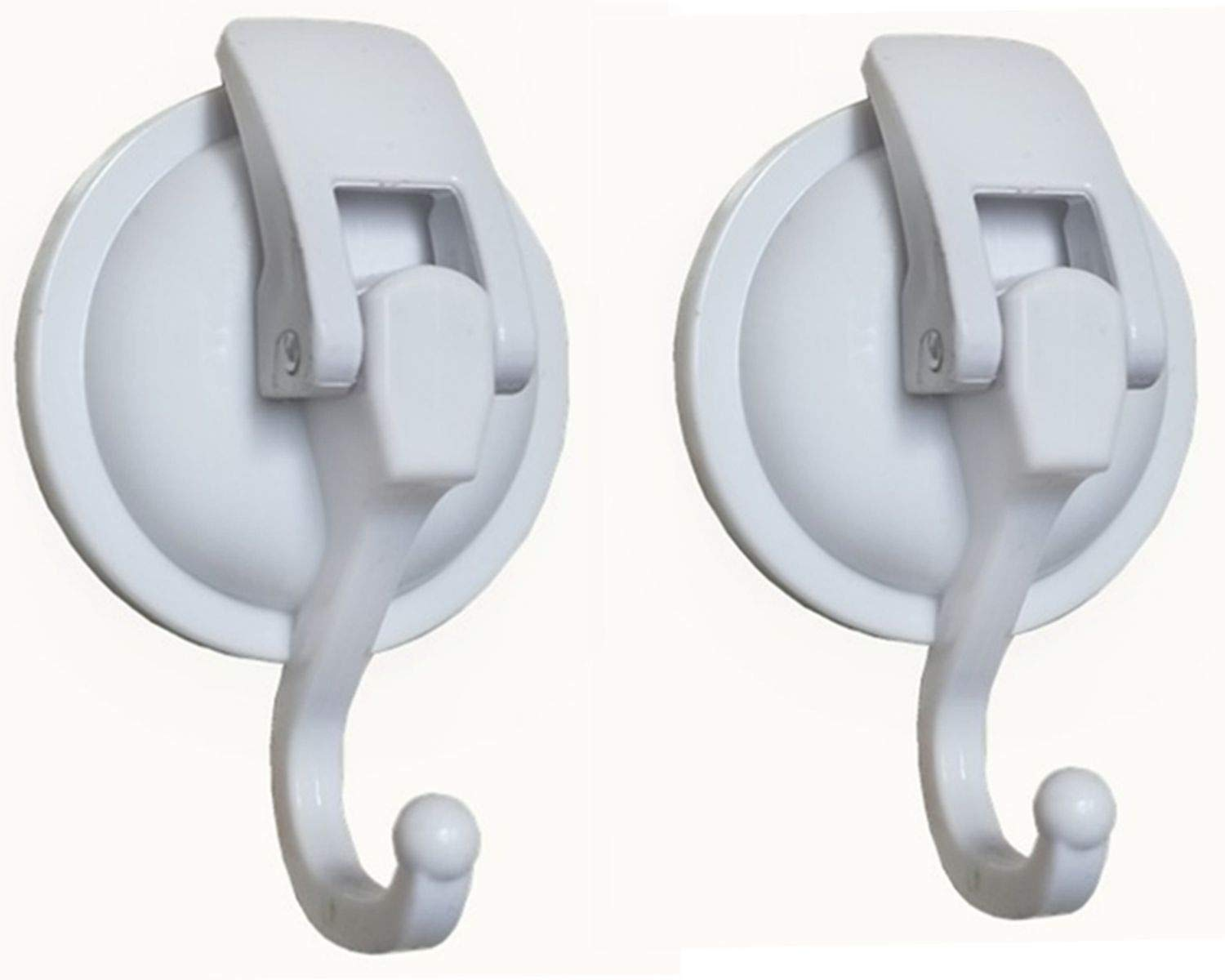 Vacuum Suction Cups Hooks (2Pack) Shower Hooks Wall Mounted Hooks Specialized for Kitchen& Bathroom& Restroom Organization, by iRomic iRomic Accessories