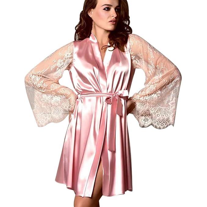 Amazon.com: Sunyastor - Kimono de encaje para mujer, vestido ...