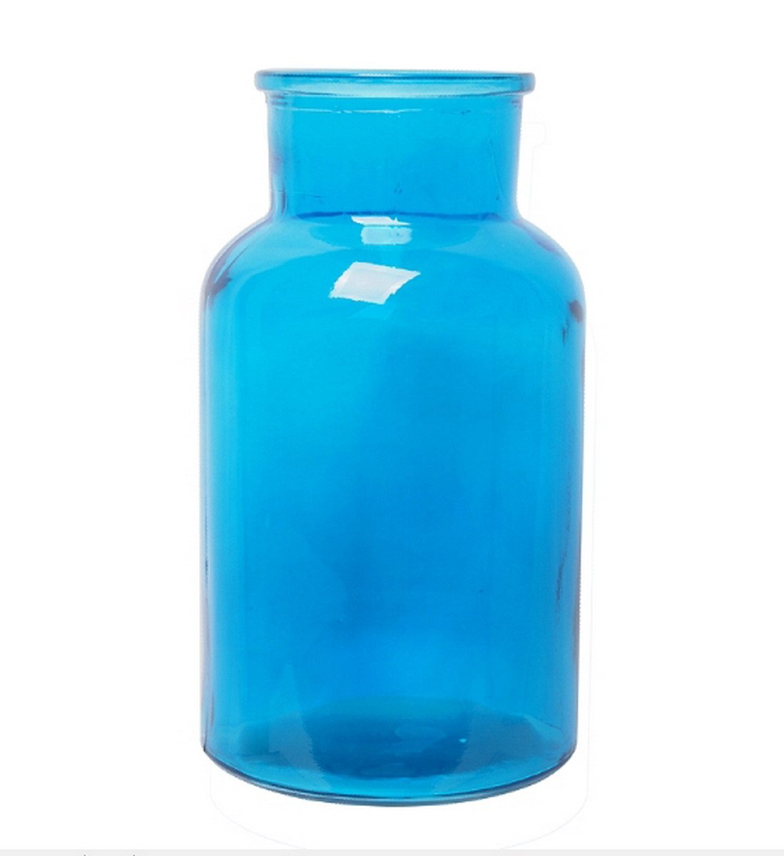 Hosley Blue Glass Vases - 10'' High. Ideal Gift for Special Occasion; for Spa, Nautical, Family Room, Restaurant, Storage, Votive Candle Gardens. O9
