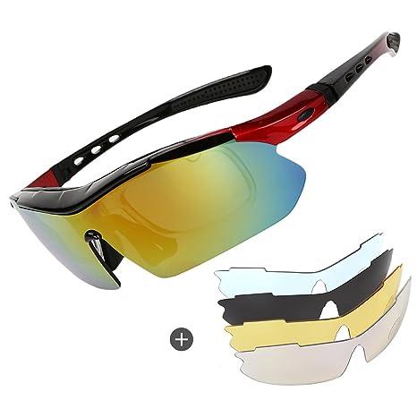 Gafas de sol polarizadas para ciclismo, para hombre, para ciclismo, críquet, deportes