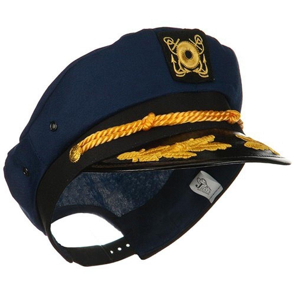Yacht Skipper Boat Captain Hat Sailor Ship Cap Navy Blue Gold Aviator Sunglasses by Nicky Bigs Novelties (Image #6)