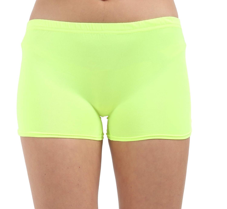 Children Kids Neon Lycra Stretchy Hot Pants Shorts-Dancing Shorts-Party Wear