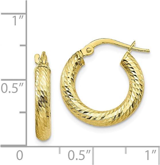 FB Jewels 10K Yellow Gold 1 Block Styl