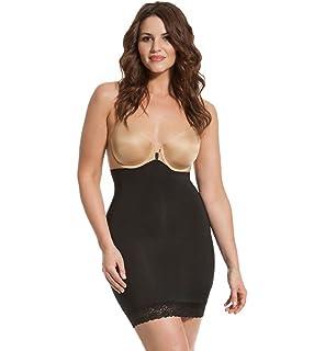 f330ddd557a HookedUp Women s Plus Size Shapewear Slip Strapless Shapewear High Waist  Tummy Control Shaper Slip