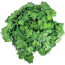Ya Jin 12 Pack Artificial Ivy Vines Garland Fake Hanging Plants Leaf Home Kitchen Garden Office Wedding Wall Decor, Style 2