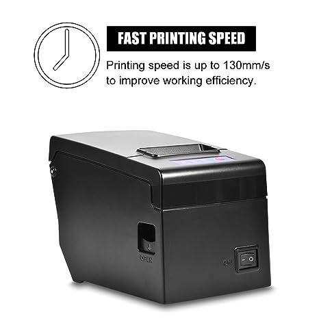 Amazon.com: Impresora térmica, 2.283 in USB con cable de ...