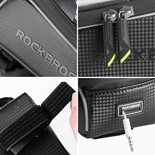 RockBros Bike Front Frame Bag Cycling Waterproof Top Tube Frame Pannier Mobile Phone Touch Screen Holder Bike Bag Fits Phones Below 6.0 Inches by ROCK BROS (Image #3)