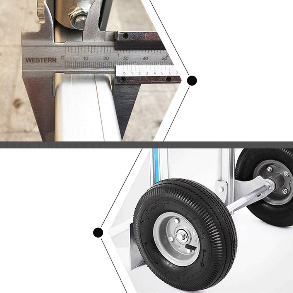 Foldable Color : Silver Bearing Weight 250kg Portable Travel Trailer HONGLIAN Portable Large Aluminum Alloy Loading King Small Pull Cart