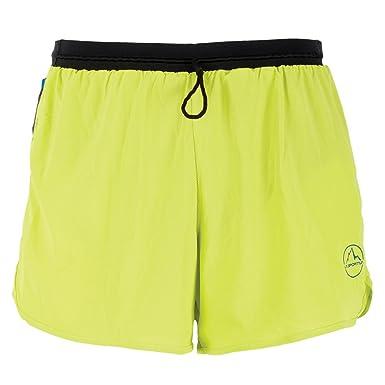 yellow running shorts