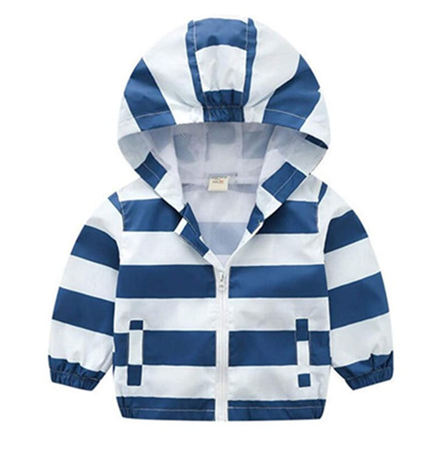Melissa Wilde 80-130cm Fashion Stripe Jacket for Girls Windbreaker Boys Coat Kids Outerwear