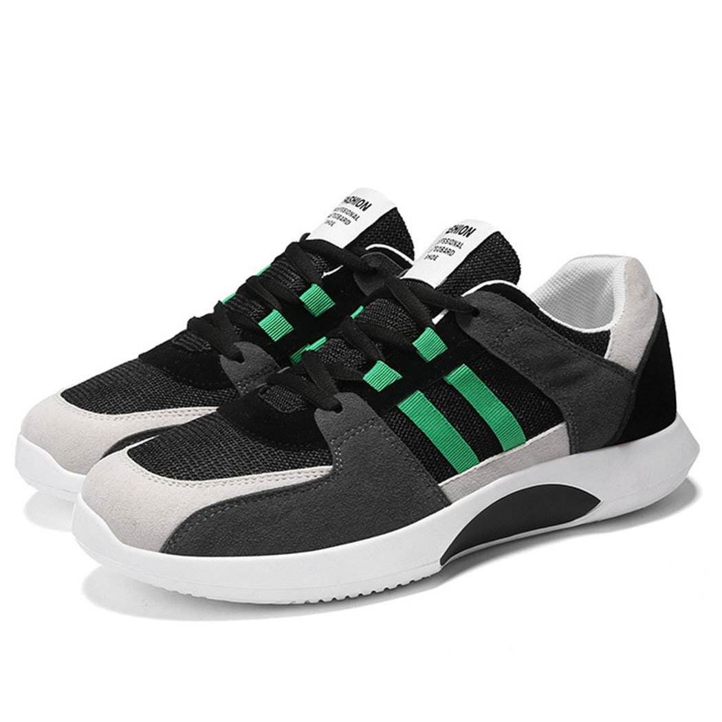 GAOLIXIA Zapatos de los Hombres Zapatos Deportivos de Malla Transpirable Zapatos Ligeros de Primavera y Verano Zapatos Deportivos Ocasionales de la Moda Zapatos del Monopatín 42|Verde
