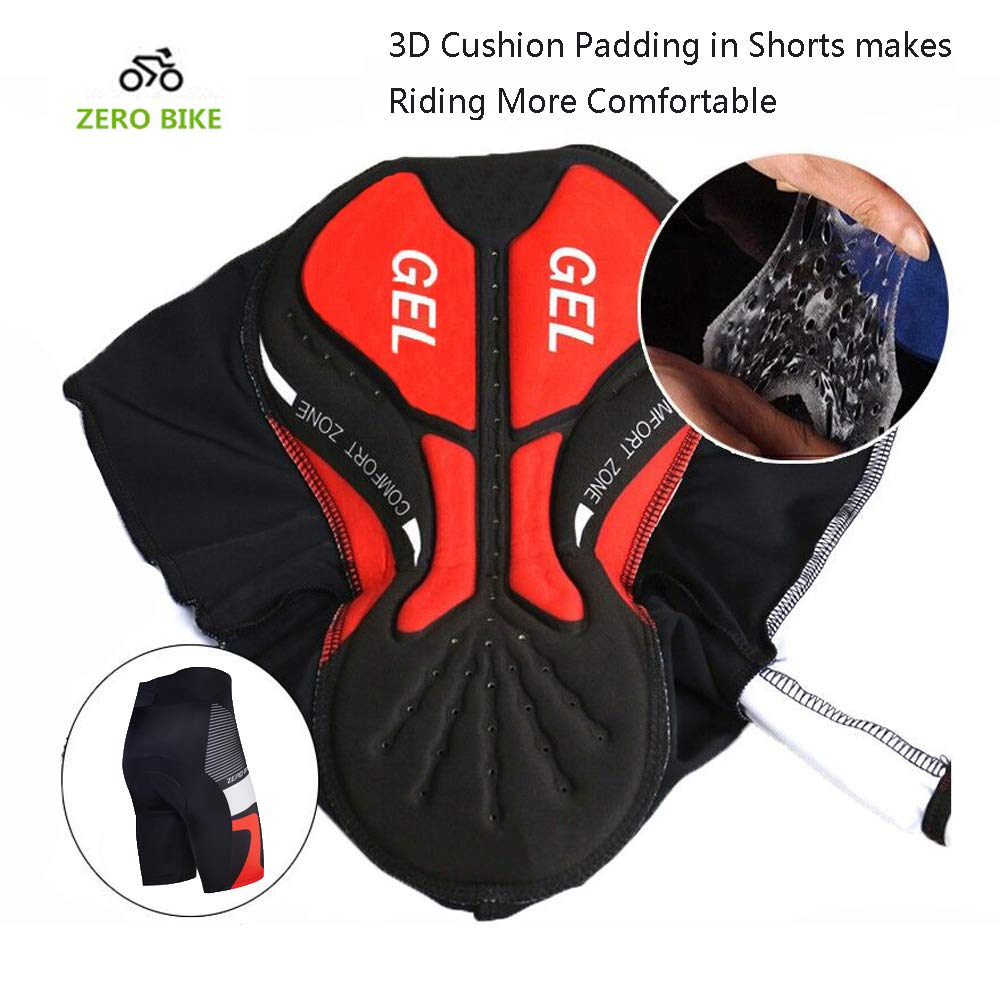 ZEROBIKE Men Breathable Quick Dry Comfortable Short Sleeve Jersey Padded Shorts Cycling Clothing Set Cycling Wear Clothes
