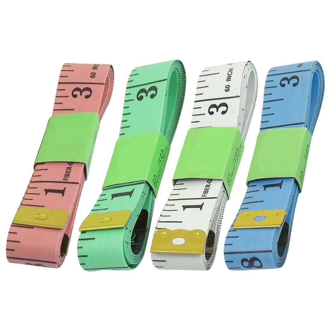 4 piezas 152, 4 cm 1, 5 m varios colores suave costurera regla de costura gamuza de fibra de vidrio Sourcingmap a13030500ux0322