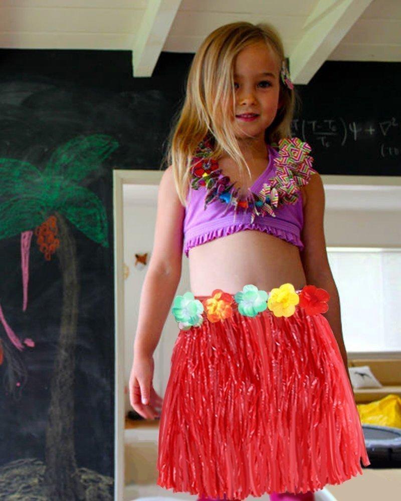 c1efd723e JUNGEN Falda de Hierba de Hula de Niños Falda de Hierba Hawaiana para Ropa  de Baile