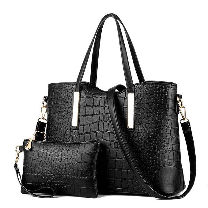 Amazon.com: MILIMIEYIK - Bolsa de piel para mujer, 2 ...