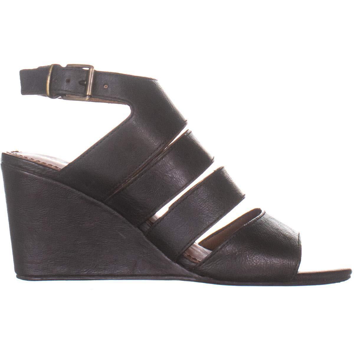 Patricia Nash Womens Korina Leather Wedge Wedge Sandals