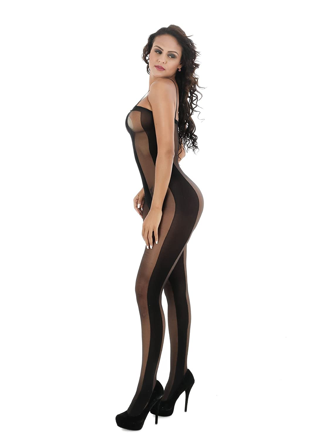 1a9d84b99 Sexy Lingerie for Women for Sex Fishnet Bodystocking Open Crotch Striped  Bodysuit Babydoll Leotard ...