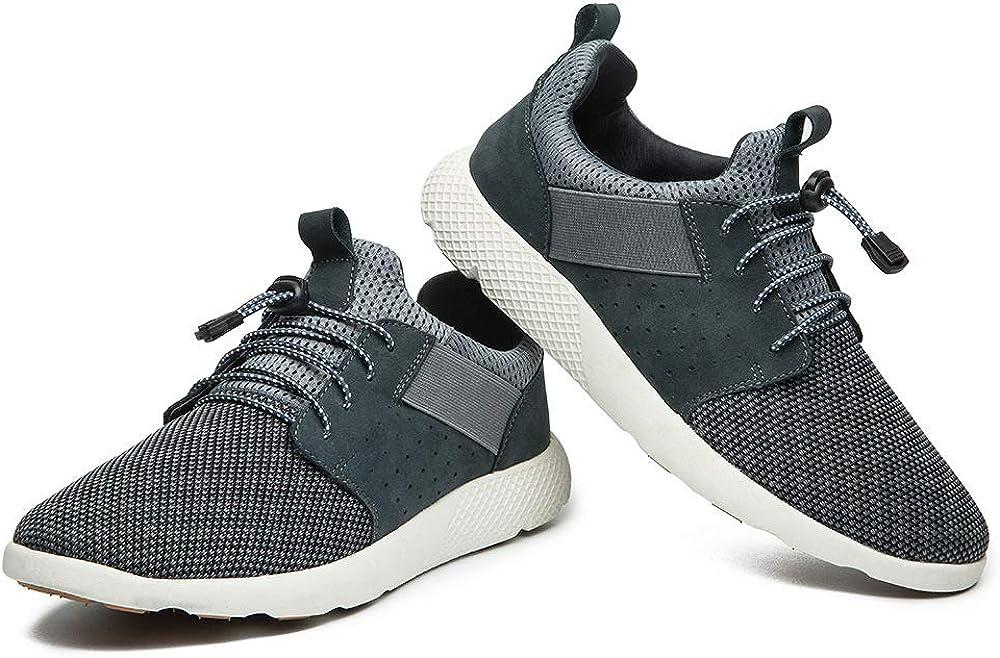 JIEANTE Men Mesh Fabric Upper Memory Foam Insoles Slip on Walking Shoe Sneaker Lightweight Work Shoes