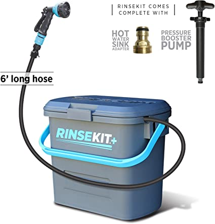 Rinse Kit Portable Pressurized Shower System No Batteries Required
