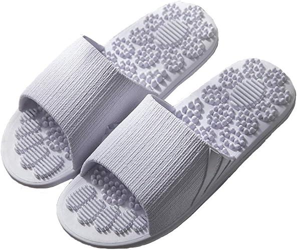 Unisexe Femmes Hommes Pantoufles Anti-dérapant Respirant Salle De Bain EVA Mode