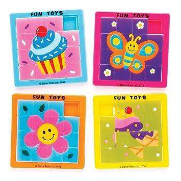 Baker Ross- Puzles deslizantes originales (Pack de 5) para bolsas sorpresa o como idea de regalo infantil