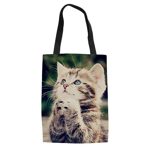 f8878f5d25f6 Coloranimal Women's Canvas Shoulder Handbag Cute Animal Dog Printed Tote Bag