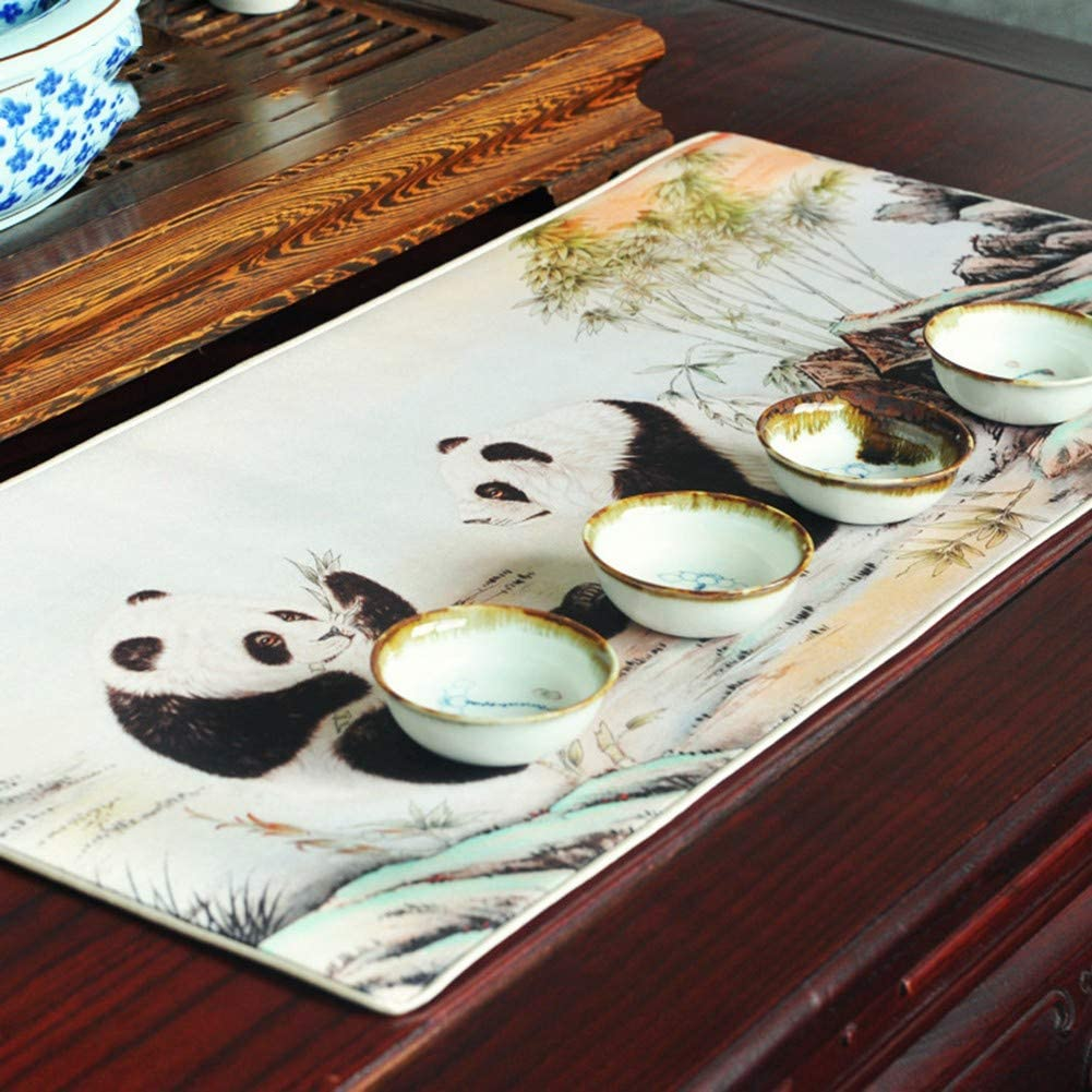 ITMonco Professional Large Gaming Mouse Pad Large Gaming Mouse Pad Panda Pattern Compatible with Laser and Optical Mice