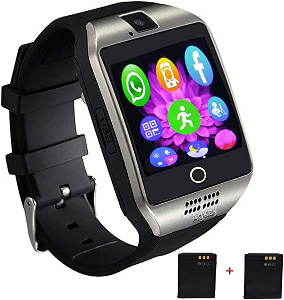 Smart Watch Touch Screen Smartwatch WristWatch Unlocked Watch with Camera Handsfree Call Smart Watches Compatible with iPhone Android Samsung S10 S9 ...