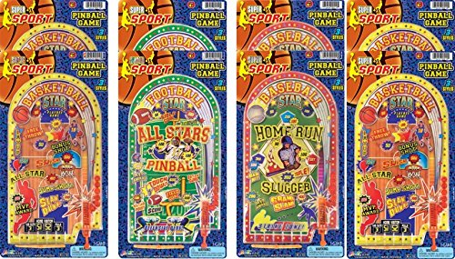 Ja-Ru Super Sport Pinball Party Favor Bundle Pack (Games Pinball Sports)