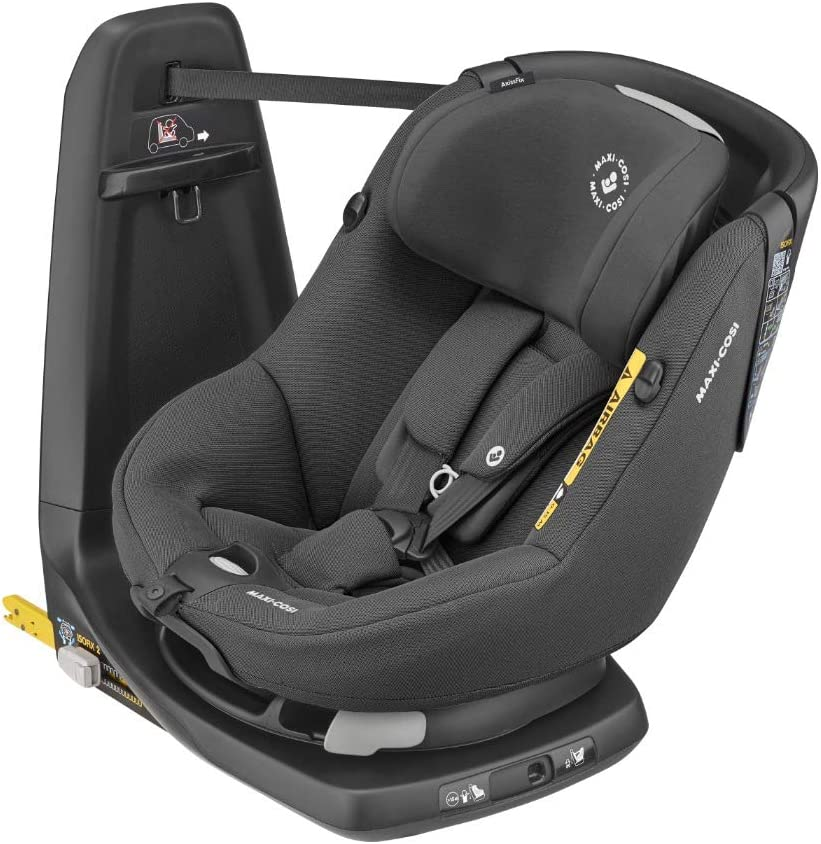 Maxi-Cosi Axissfix Silla de coche giratoria 360° isofix, Silla auto reclinable y contramarcha para bebés 4 meses - 4 años, color Authentic Black