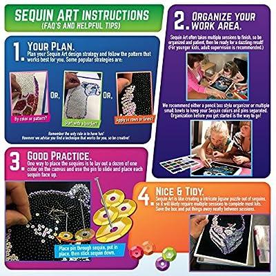Sequin Art Spectrum Safari Arts & Crafts Kits: Toys & Games