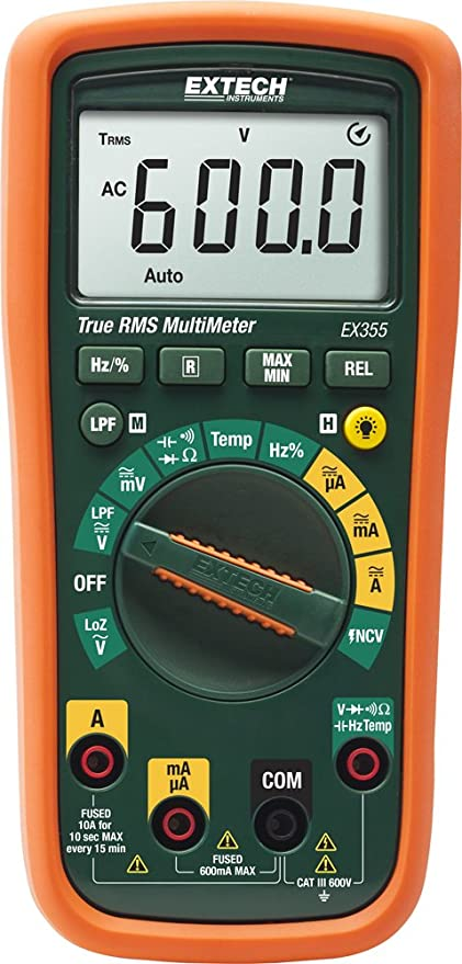 a82047ca2d9afc Extech EX355-NIST True RMS Professional MultiMeter with NCV ...
