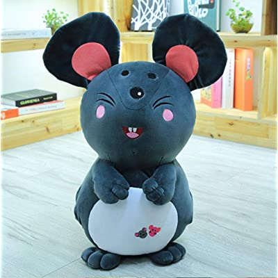 Adorable Ratón De Peluche, Relleno Gris De Pie Dibujos Animados Ratones Animales De Peluche Muñeca Mkids Birthday Giftm, 30Cm: Juguetes y juegos