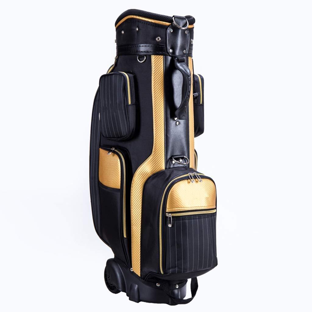 ゴルフバッグ、クラブバッグ、バッグメンズ、標準バッグ、プーリー付きトロリー、大ポータブル容量、34×26×85cm