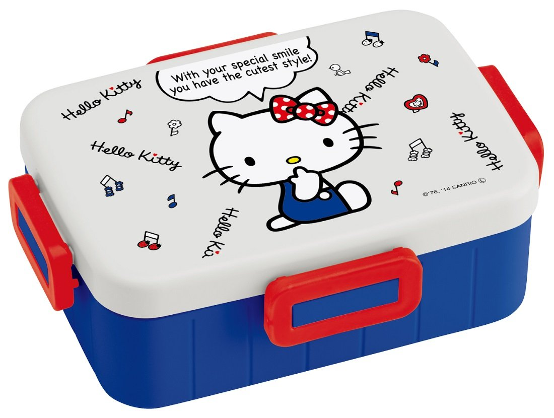 4 -point lock lunch box 650ml Hello Kitty white design YZFL7 by Skater