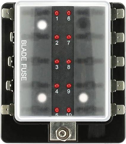 EgoEra® 12V Caja de Fusibles Coche Barco, Caja Portafusibles ...