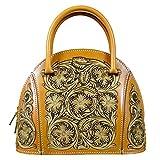 OLG.YAT Vegetable Tanned Leather Lady Handbags Retro Little Bow Leisure Purse HKBH