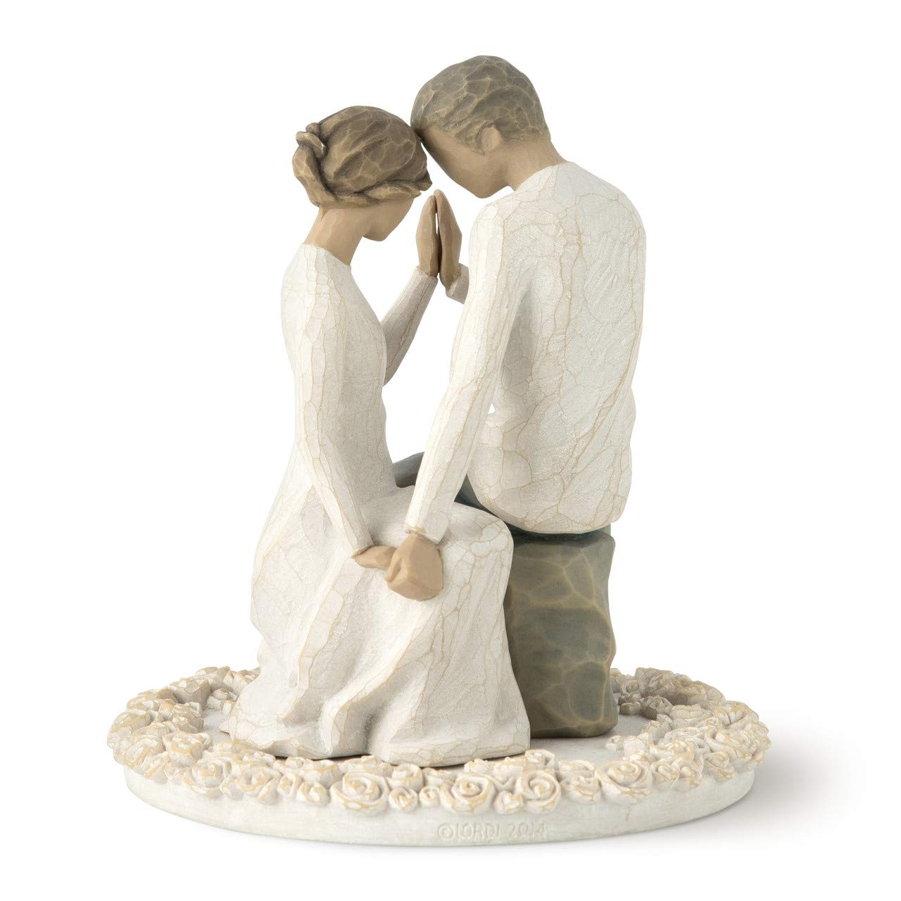 Willow Tree Around You, sculpted hand-painted cake topper