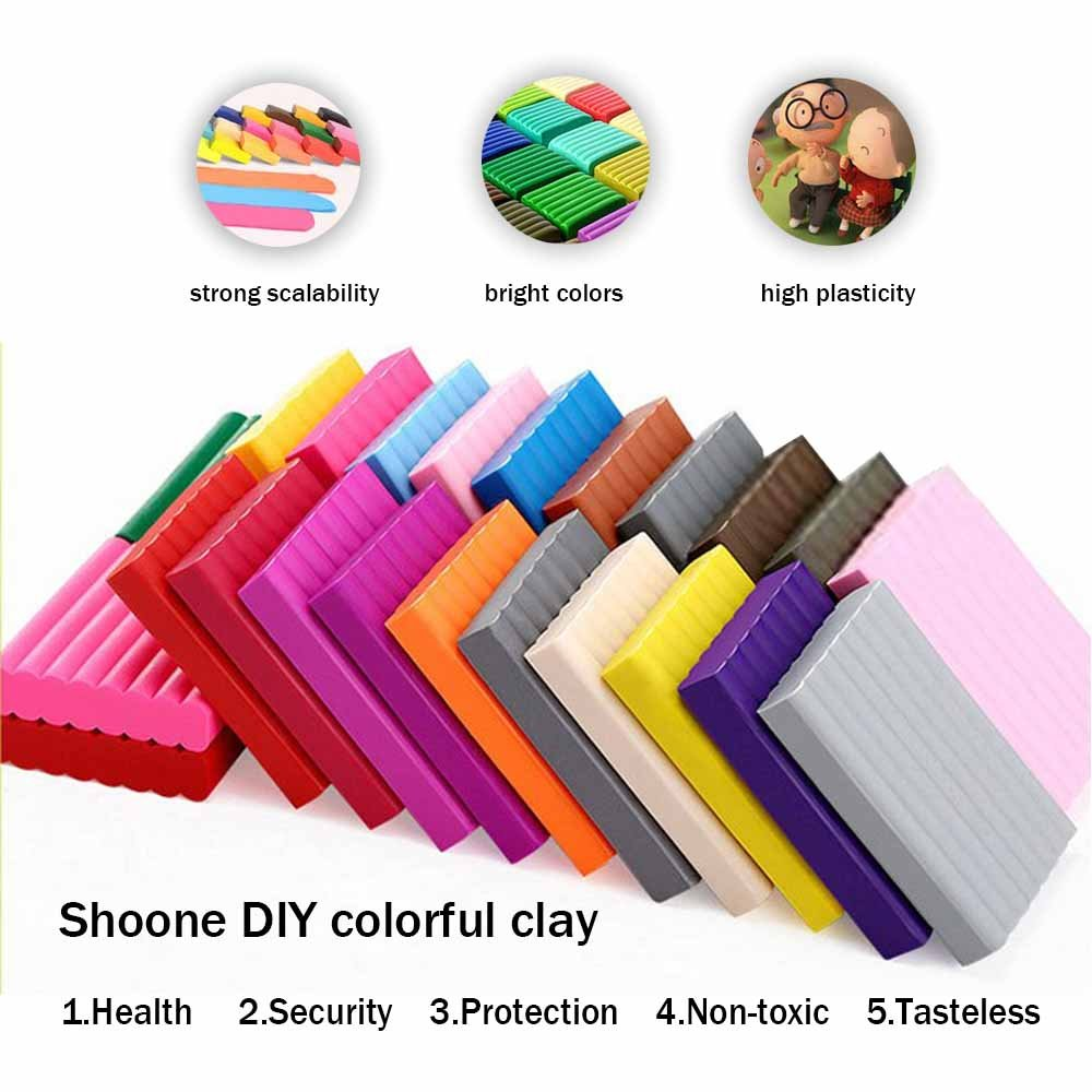DIY Colorful Clay, Schoone Polymer clay Creative Street Model Clay, Soft Molding Craft Oven Baking Clay and Kits, Tutorials, Accessories, Best Kids Gifts