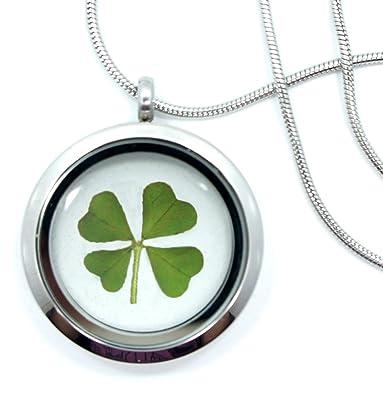 Real 4 Leaf Clover Necklace - Shamrock, Lucky, Ireland, Natural, Clover,  Pendant