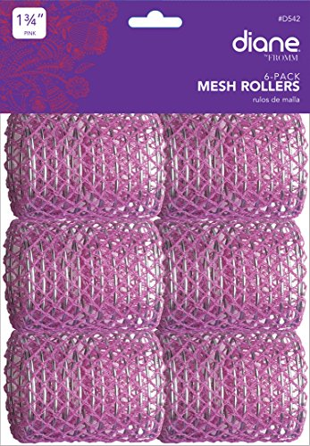 Diane Mesh Hair Rollers Pink Size 1-3/4