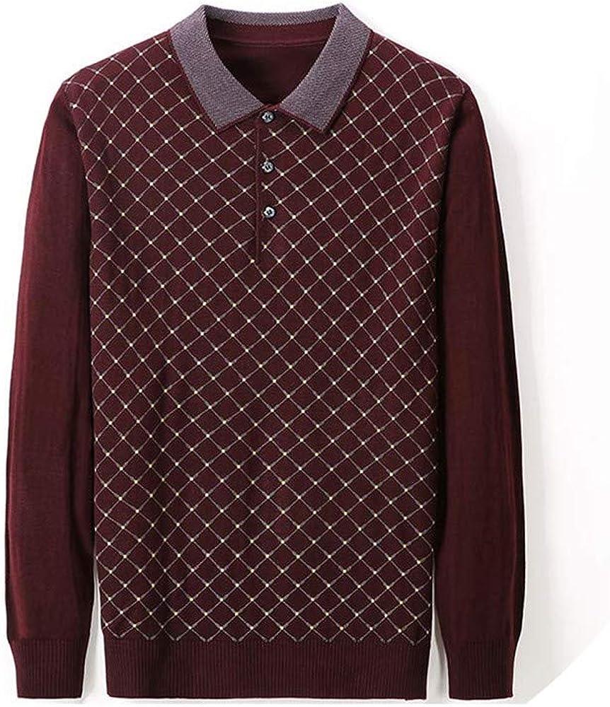 CHENGW Casual Luxury Fitness Long Sleeve Polo Shirt Men Poloshirt Jersey Argyle Mens Polos tee Shirts Dress