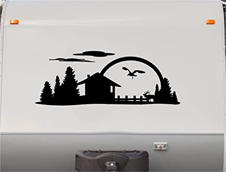 Mountains motorhome stripe kit sunset rv stickers trailer stickers camper vinyl decal