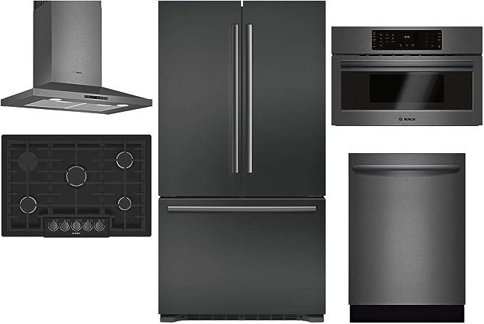 Amazon.com: Bosch B21CT80SNB - Juego de 5 piezas de nevera ...